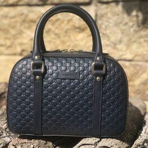 🌎NEW Gucci GG MicroGuccissima Navy Blue Small Bag